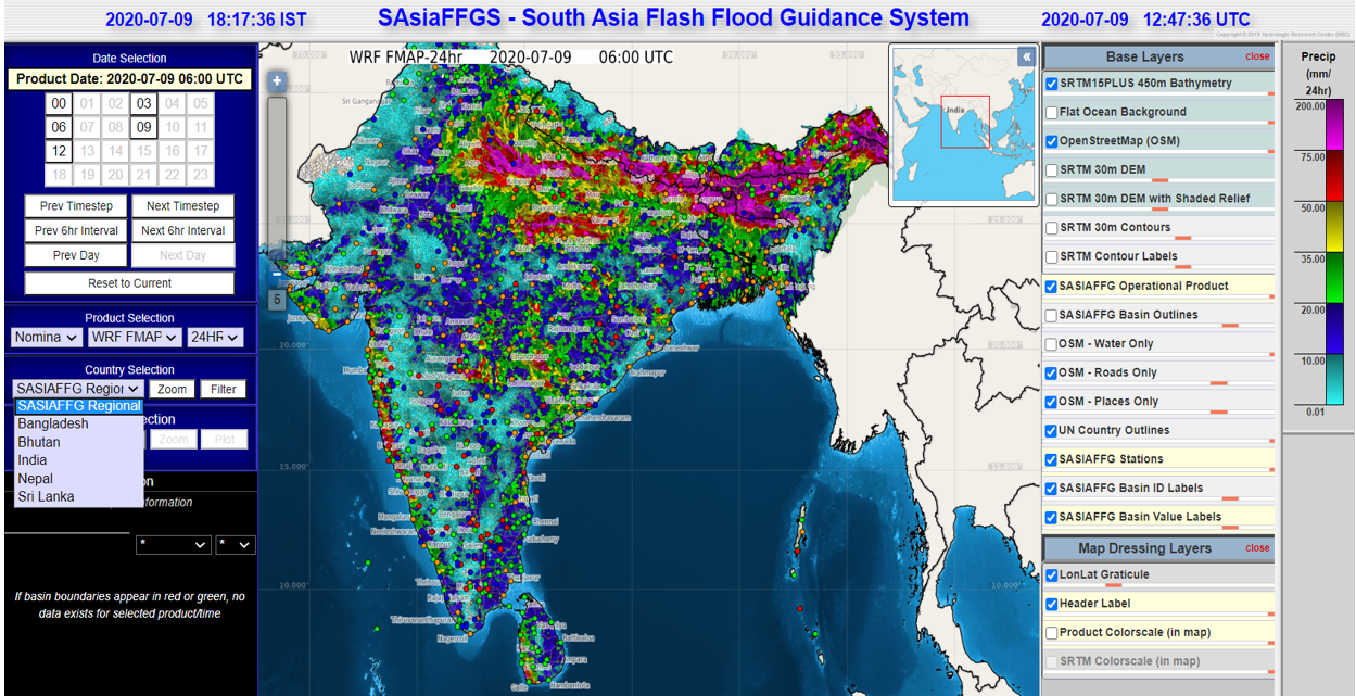 South Asia Flash Flood Guidance System training 8-10 July 2020