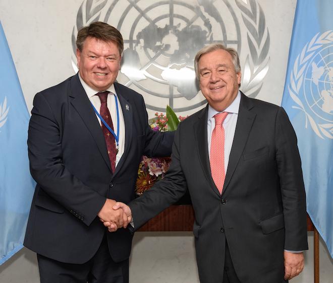 Petteri Taalas and Antonio Guterres