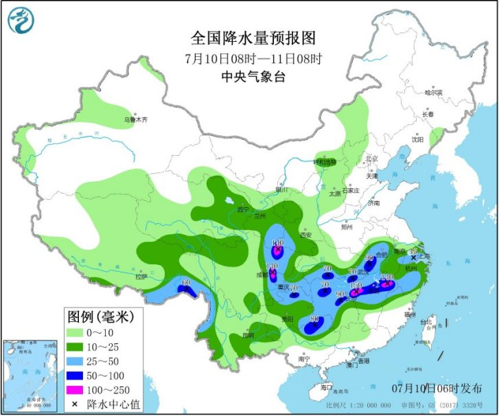 China issues more heavy rain warnings, 10.7.2020