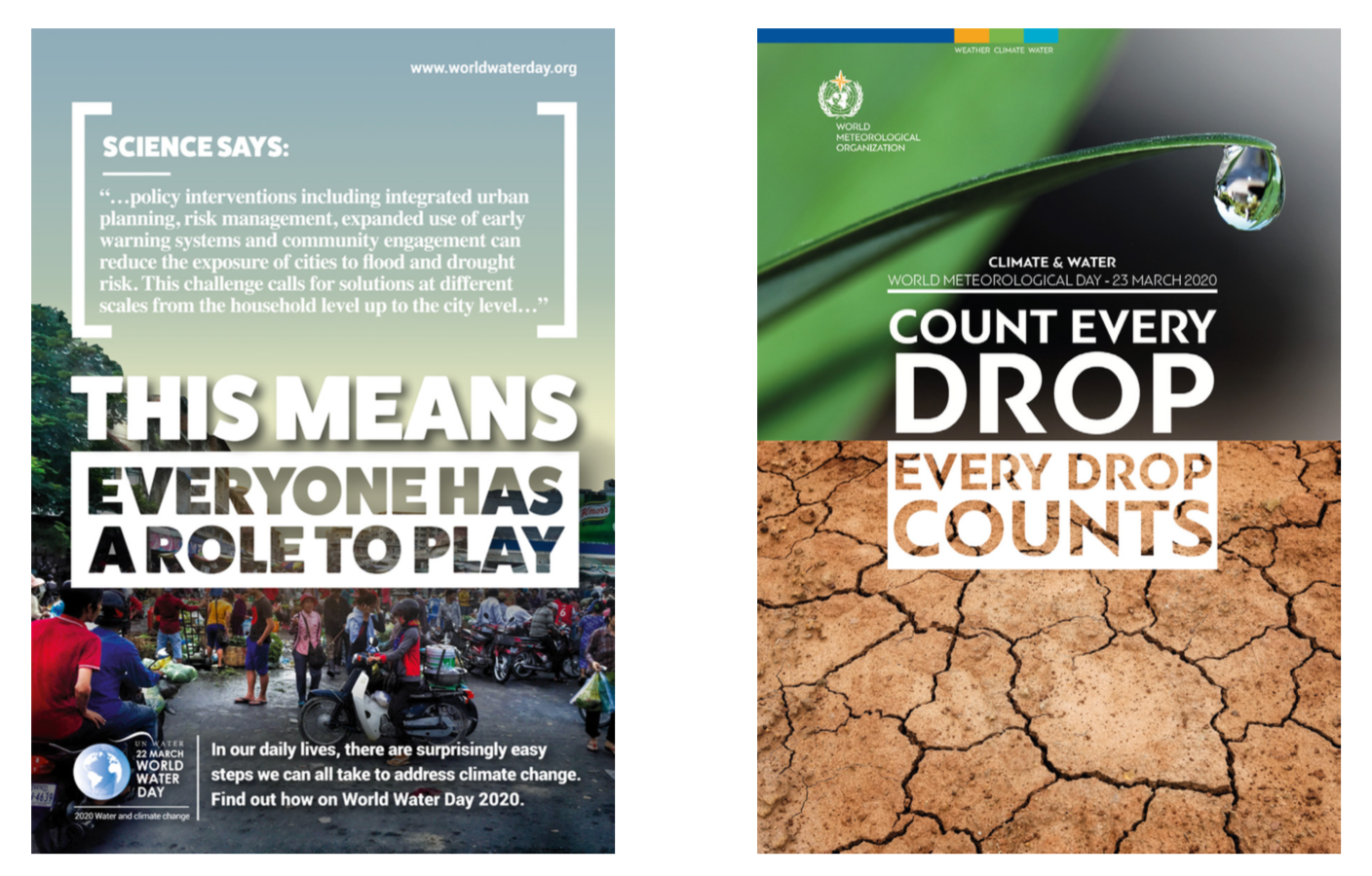 World Water Day and World Met Day Posters