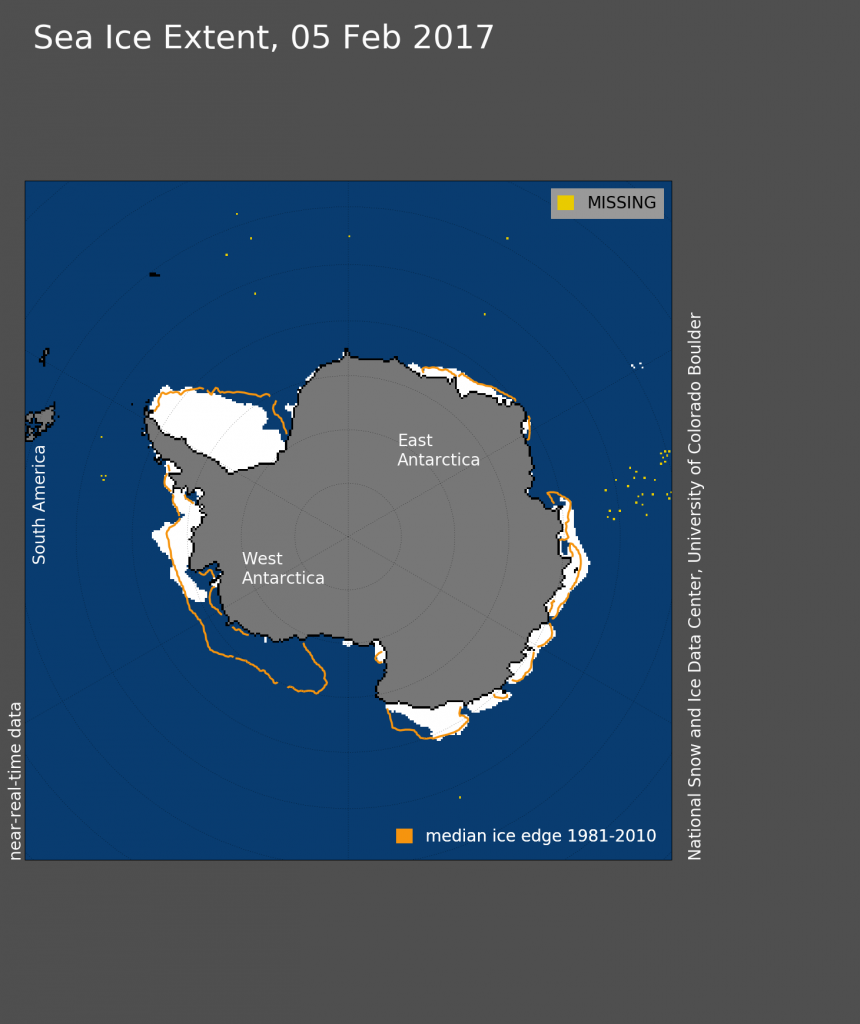 Jan 2017 Antarctic sea ice extent: NSIDC