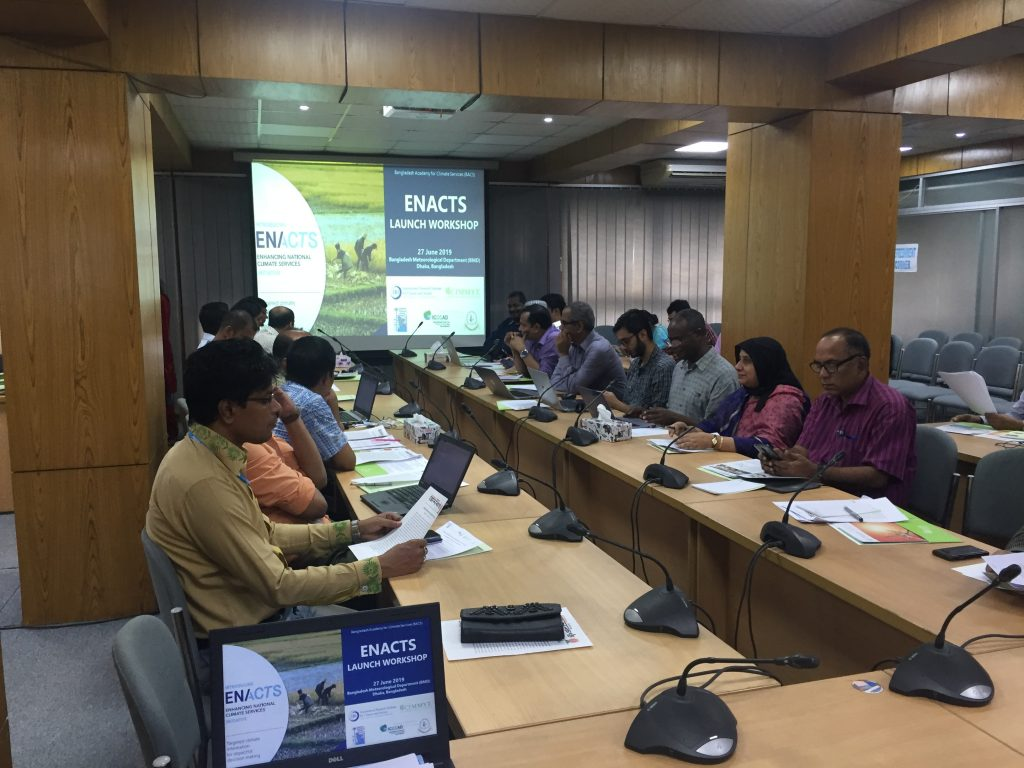 An in-country ACToday Academy for Climate Services in Bangladesh, with targeted educational and capacity building efforts for strengthening foundational climate knowledge