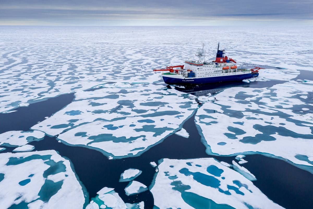 PolarStern at North Pole August 2020: AWI