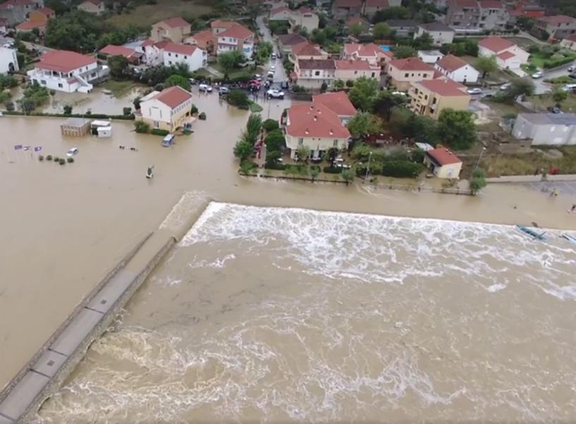 Flash flood in the city of Nin, 11 September 2017