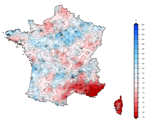 Rain deficit in France summer 2017. MeteoFrance