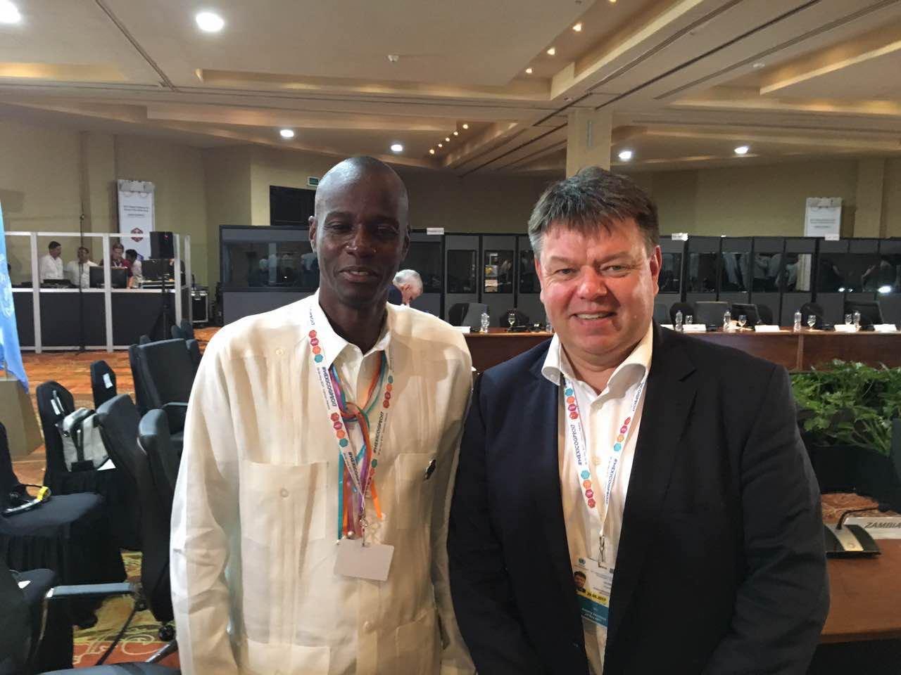 WMO SG Taalas meets Haiti President