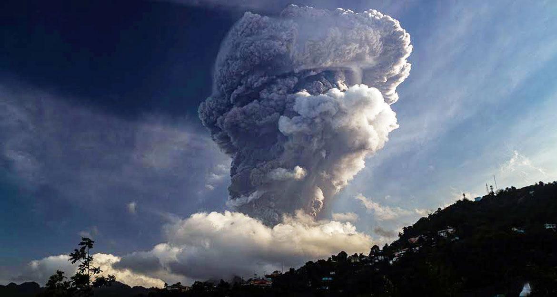La Soufriere volcanic eruption