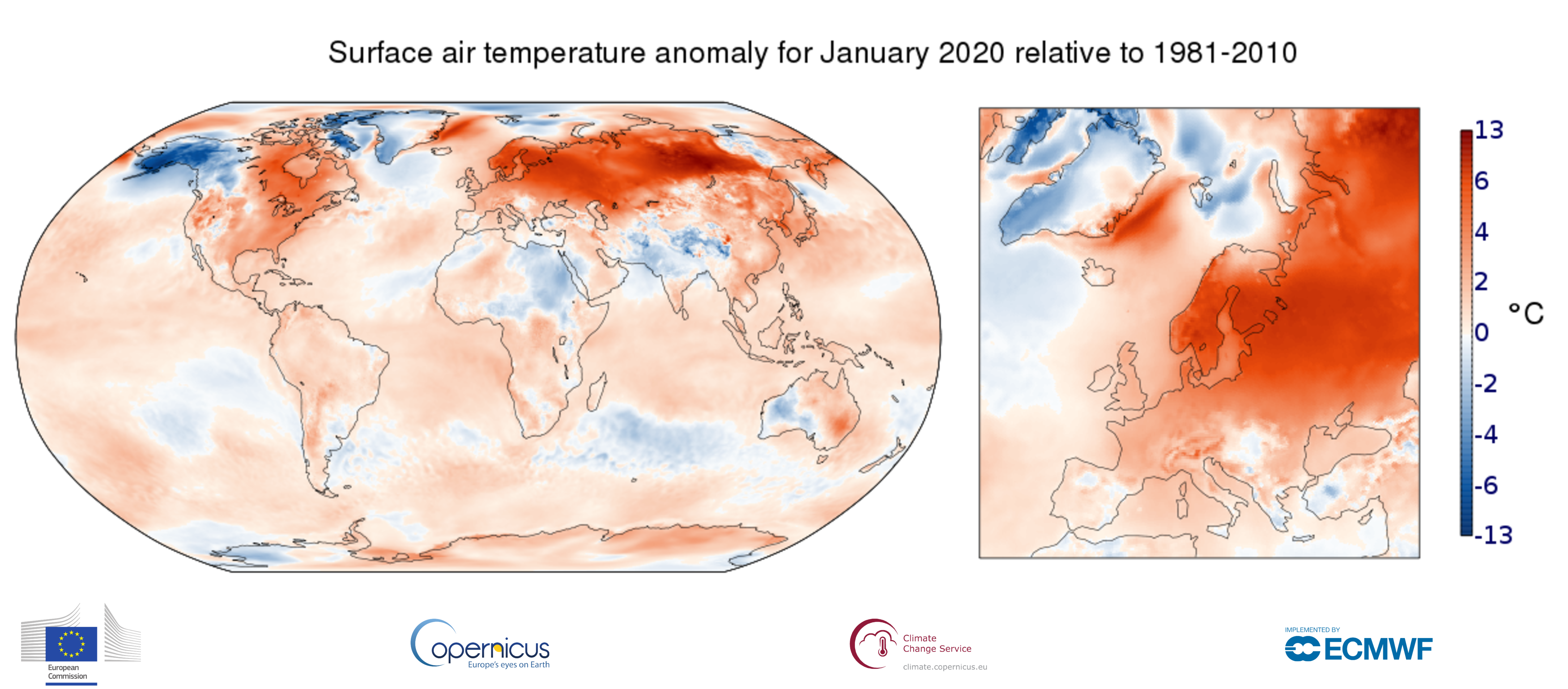 January 2020 is warmest on record, per Copernicus ECMWF