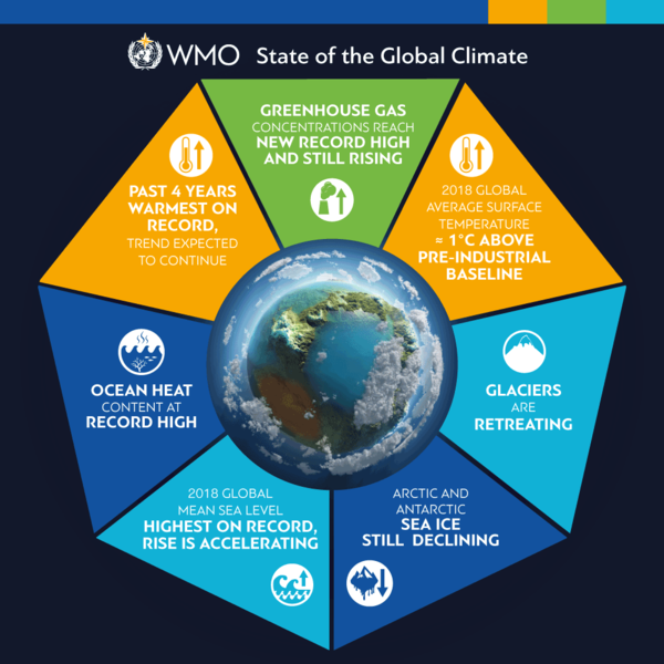 "WMO State of Climate report is ""yet another strong wake-up ..."