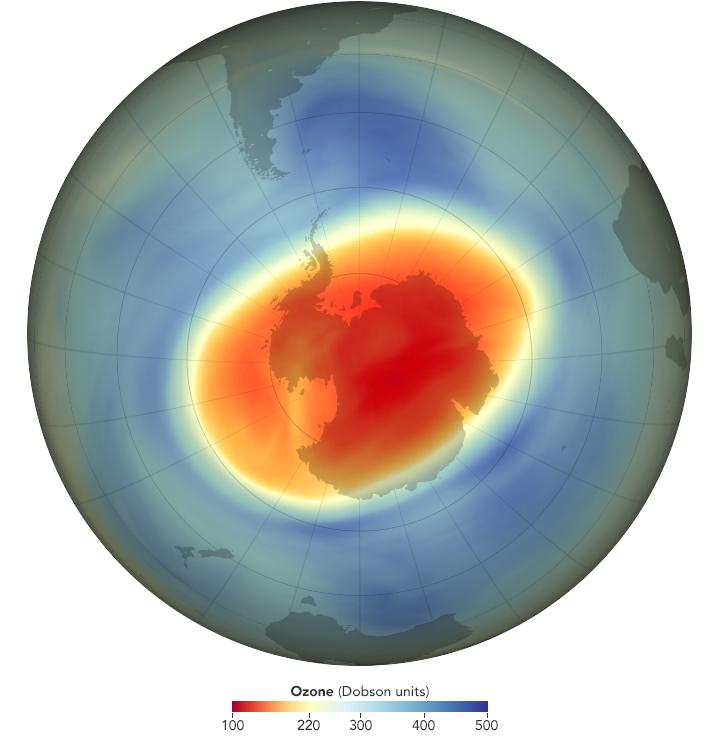 Ozone hole at its maximum September 2020: NASA Ozone Watch