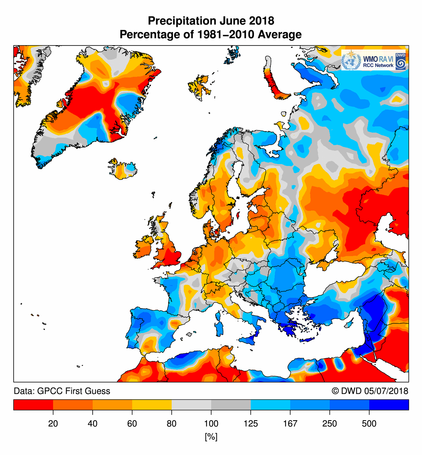 Precipitation June 2018