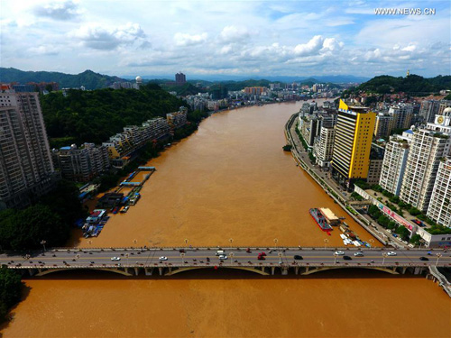 Xijiang River and its tributary Guijiang River in Wuzhou, south China's Guangxi Zhuang Autonomous Region. Source: Xinhuanet