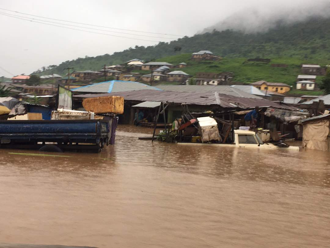 Storm in Kogi State, Nigeria, causes flooding. Photo Desmond Onilyo, Nigerian Meteorological Agency.