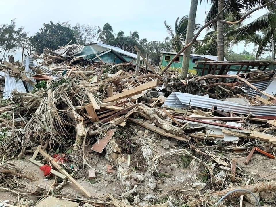 Tropical Cyclone Harold, April 2020. Photo of beach resort in Tonga