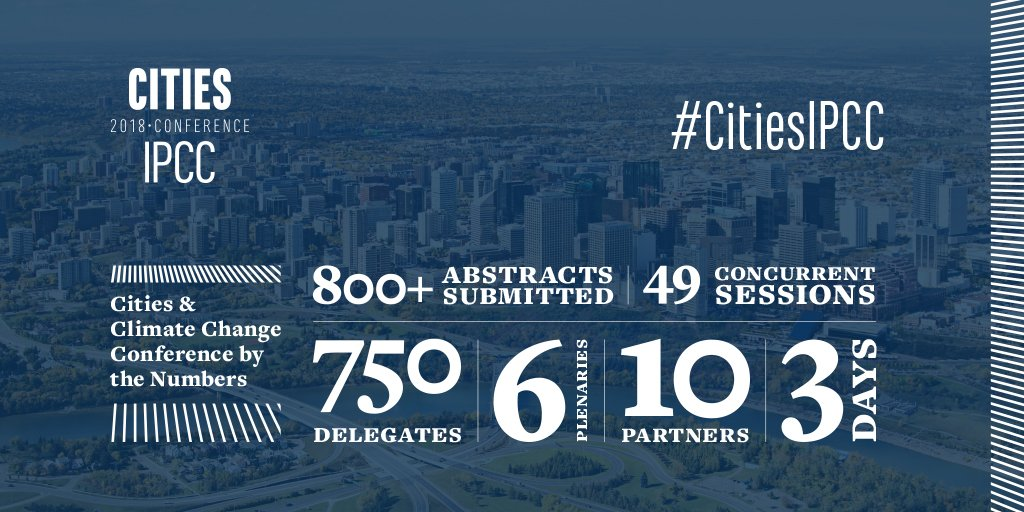 CitiesIPCC conference, Edmonton, Canada 5-8 May 2018