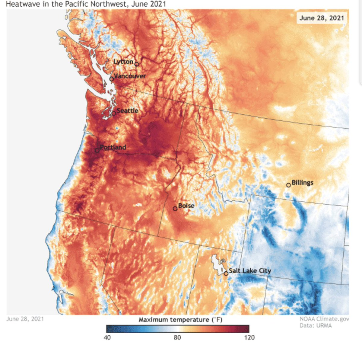 North America heatwave almost impossible without climate change
