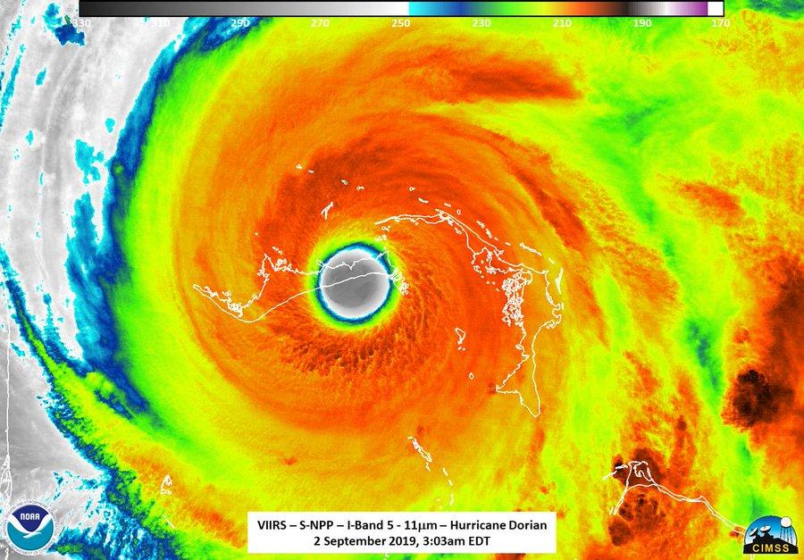 Hurricane Dorian hits Bahamas