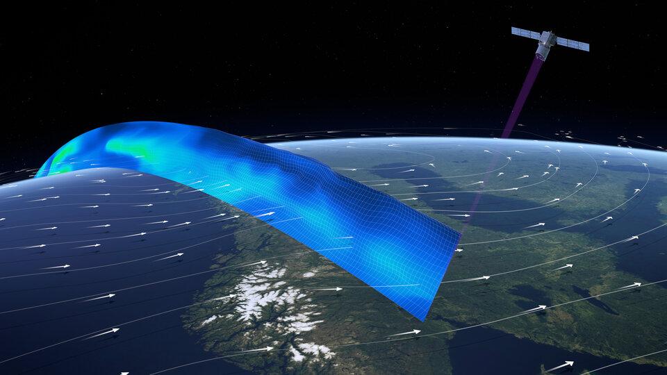 Aeolus provides data on Earth's winds