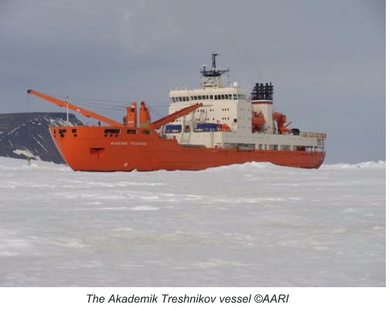 The Akademik Treshnikov vessel ©AARI