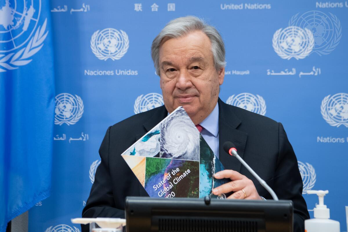 UNSG releases State of Global Climate 2020 report