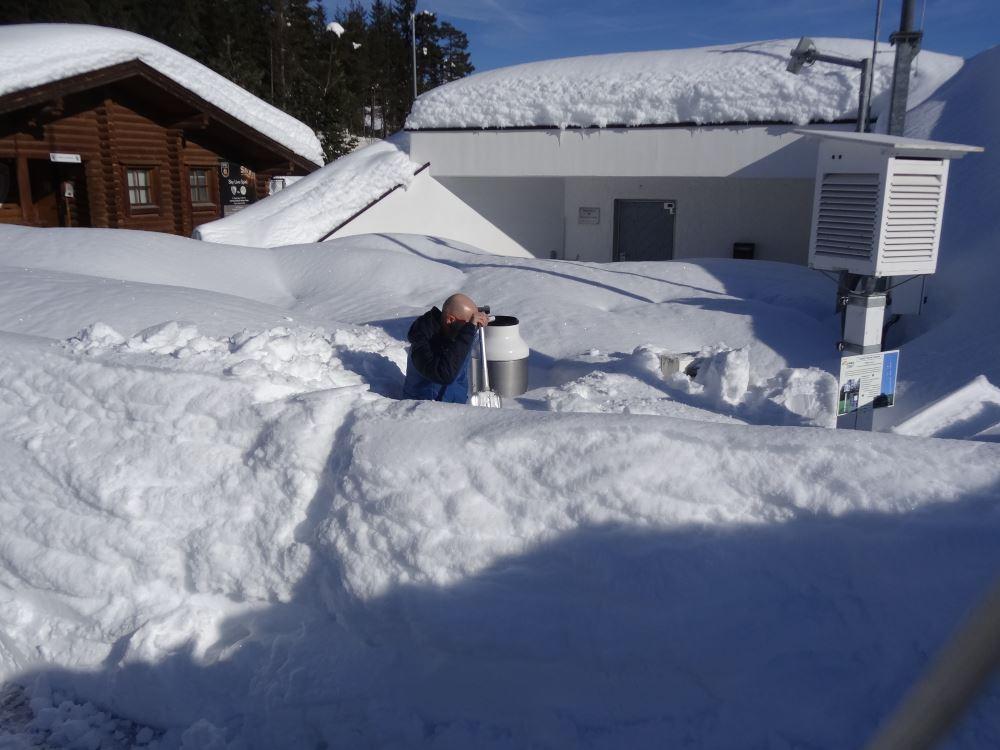 Heavy snow in Austria. Photo ZAMG