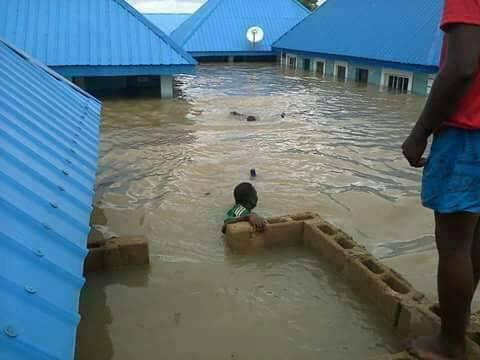 Floods in Nigeria, 27 Aug. Photo to Desmond Onyilo, Nigeria's meteorological agency NIMET