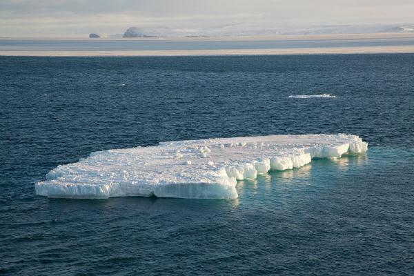 An iceberg floats in the Chukchi Sea in the Arctic Ocean. (Credit: NOAA)