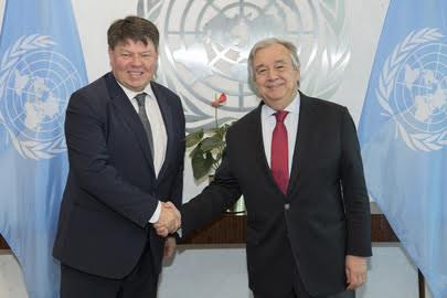 WMO SG Taalas meets UNSG Guterres