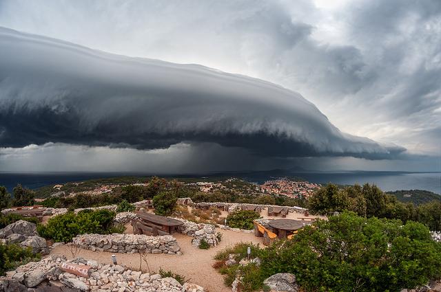 Cold front in summer - WMO calendar July 18 - Location: Mali Lošinj, Croatia / Europe Photographer - Sandro Puncet