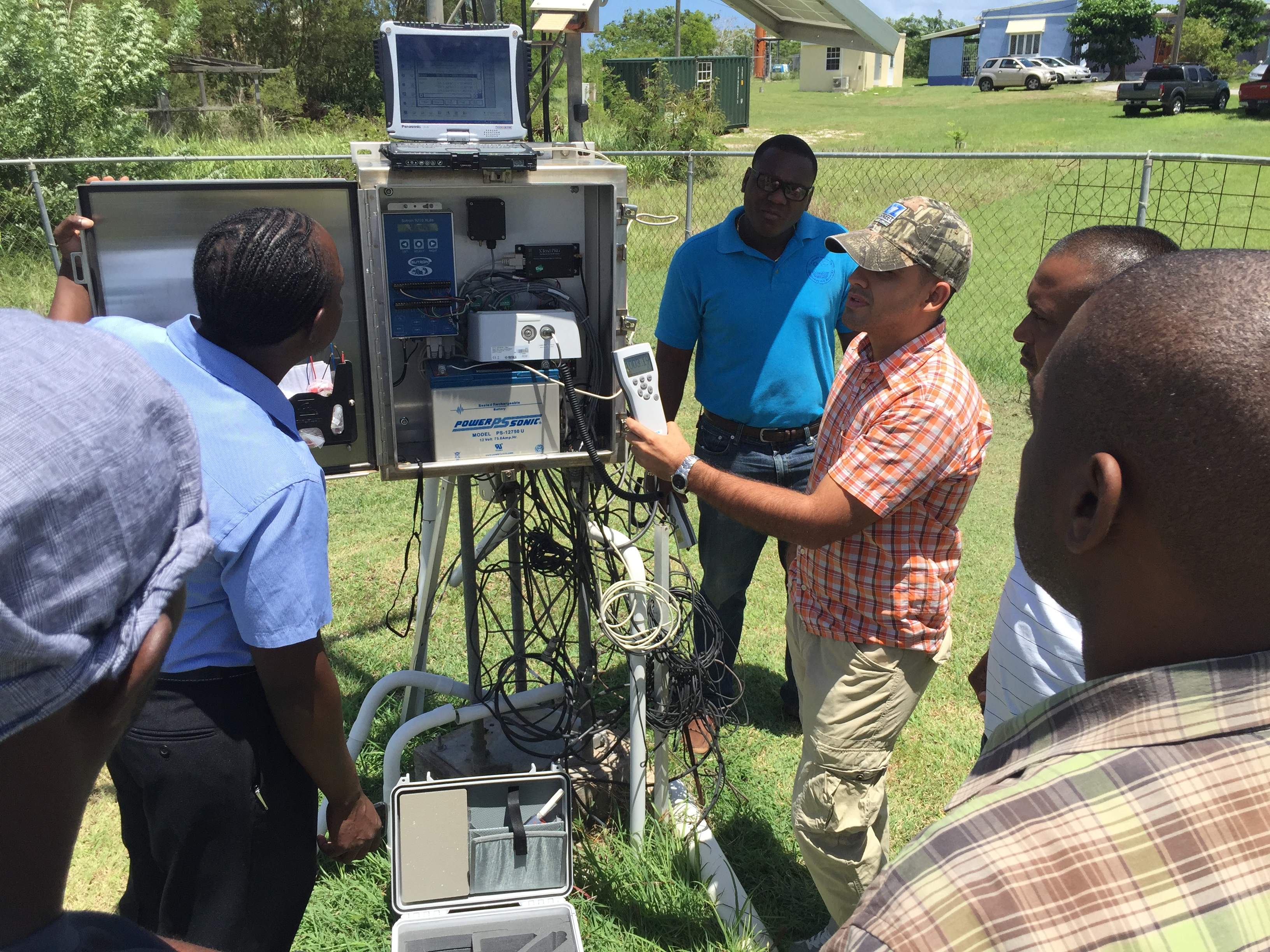 WMO Group Fellowship Training on Instrument Maintenance and Calibration at the Caribbean Institute for Meteorology and Hydrology (CIMH), Bridgetown, Barbados from August to September 2016. Photo by Damien Prescod Msc
