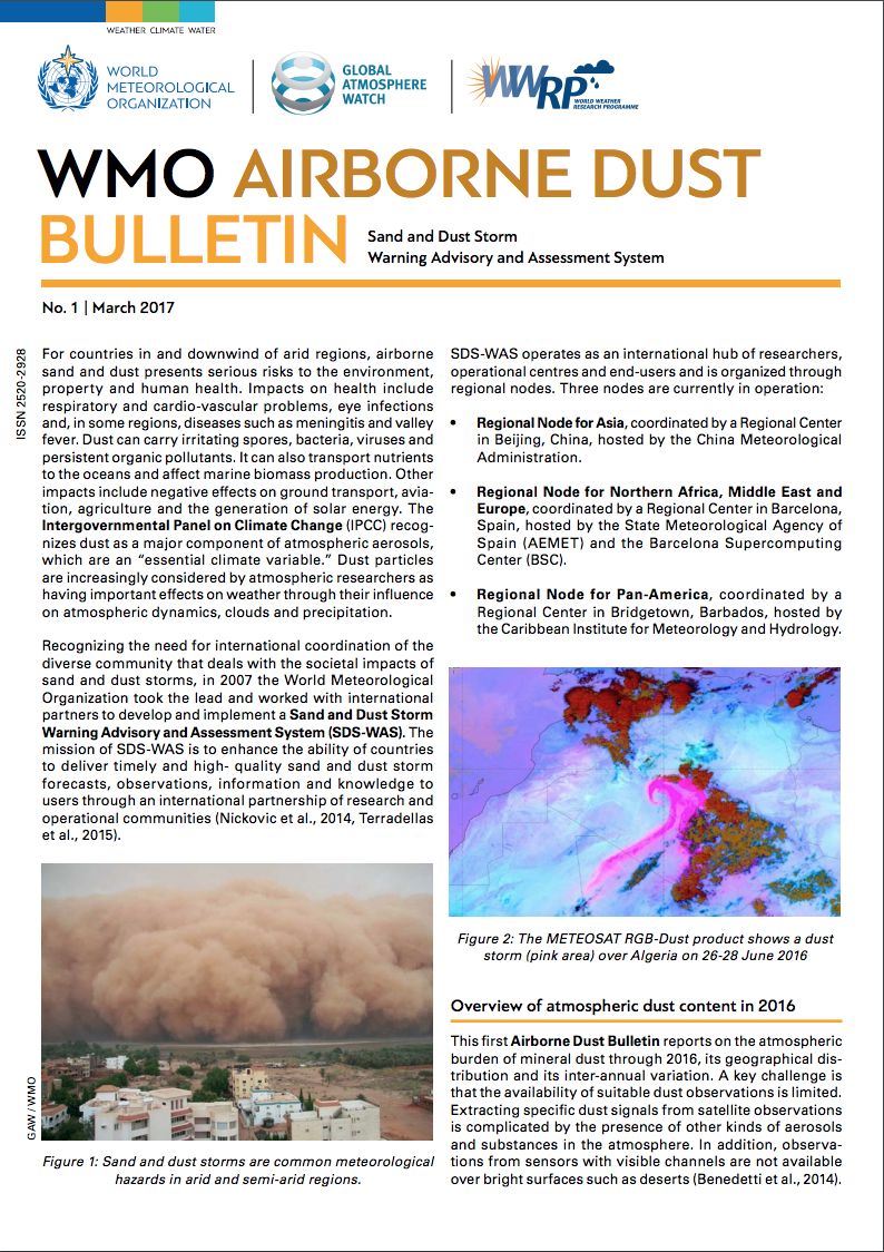 WMO Airborne Dust Bulletin - March 2017