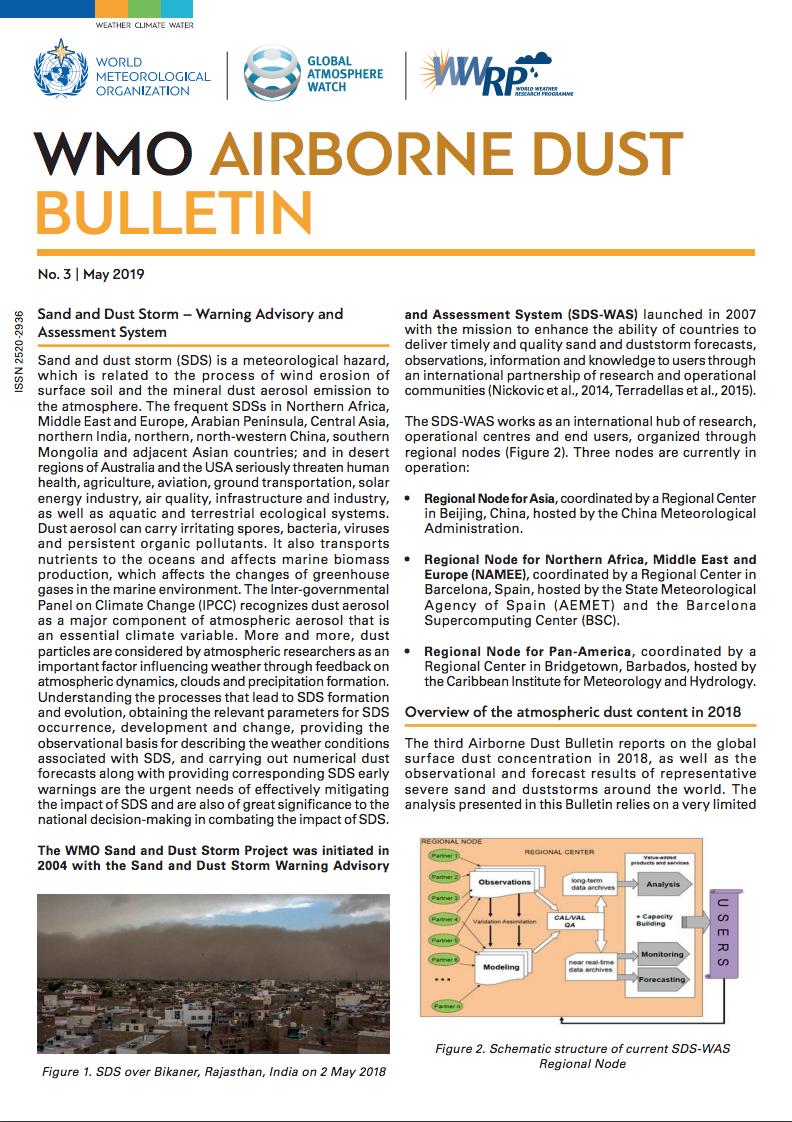 WMO Airborne Dust Bulletin_May 2019