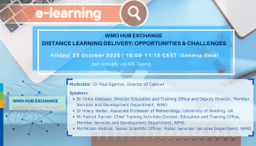 WMO Hub Exchange Dialogue on distance learning delivery