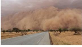 Sand and dust storm, Burkina Faso