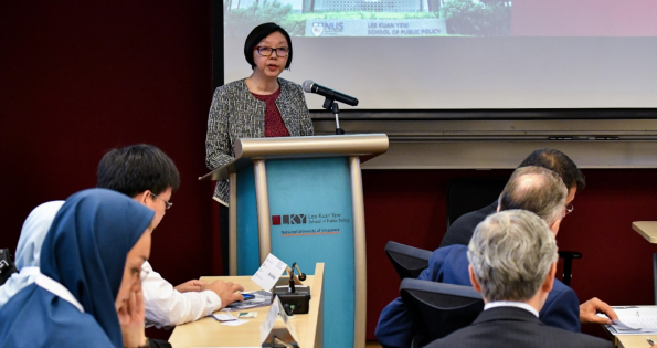 Director-General of Meteorological Service Singapore, Ms Wong Chin Ling, delivering the Opening Address