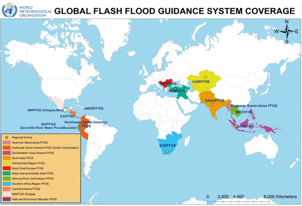Global Flash Flood Guidance System Coverage