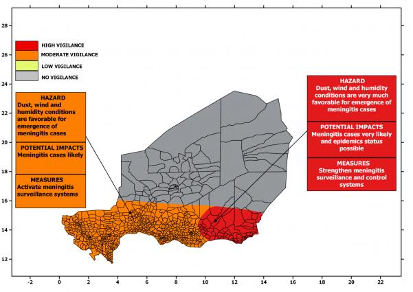 Niger health district map