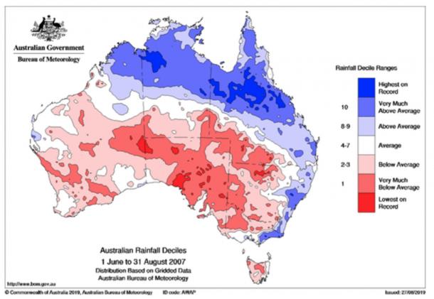 Figure 2: Australia drought monitoring