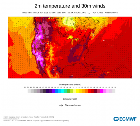 June ends with exceptional heat