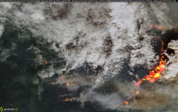 Wildfires in northern hemisphere July 2021