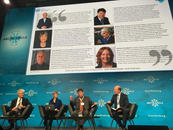 WMO plenary at Arctic Circle Assembly, 13.10.2017