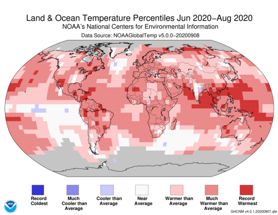 Northern hemisphere warmest summer on record