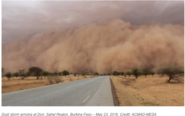 Sand and dust storm, Burkina Faso