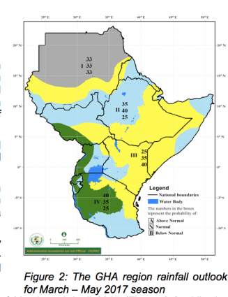 Greater Horn of Africa climate outlook March - May 2017