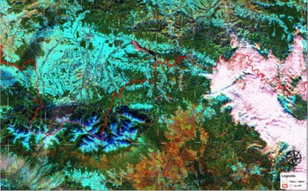 image of the snow cover in the Tatra Mountains