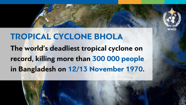 World's deadliest tropical cyclone was 50 years ago | World Meteorological  Organization