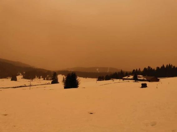 Sand storm hits Europe 6.2.2021