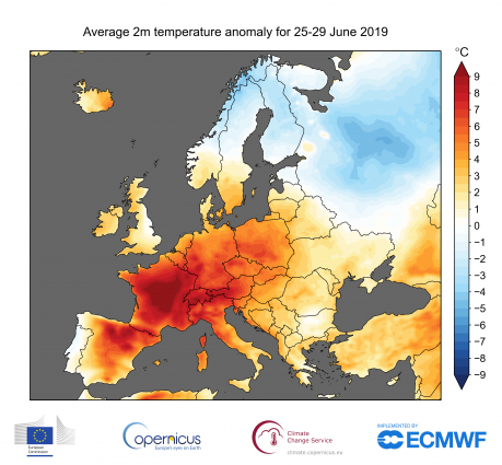 Onda de calor na Europa, junho de 2019