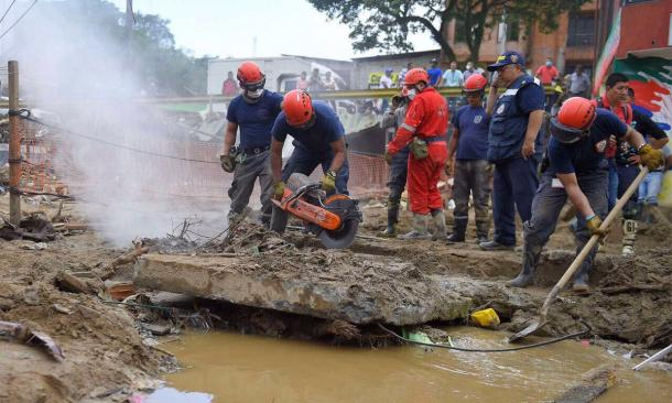 Intense rains lead to landslides in Mocoa, Colombia