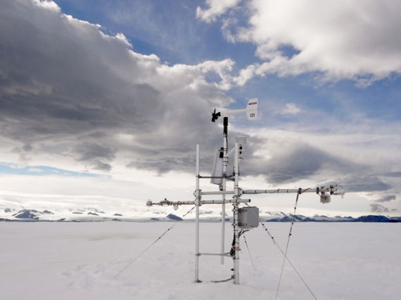 The Czech Republic's Automated Weather Station atop Davies Dome on James Ross Island, Antarctic Peninsula Region.